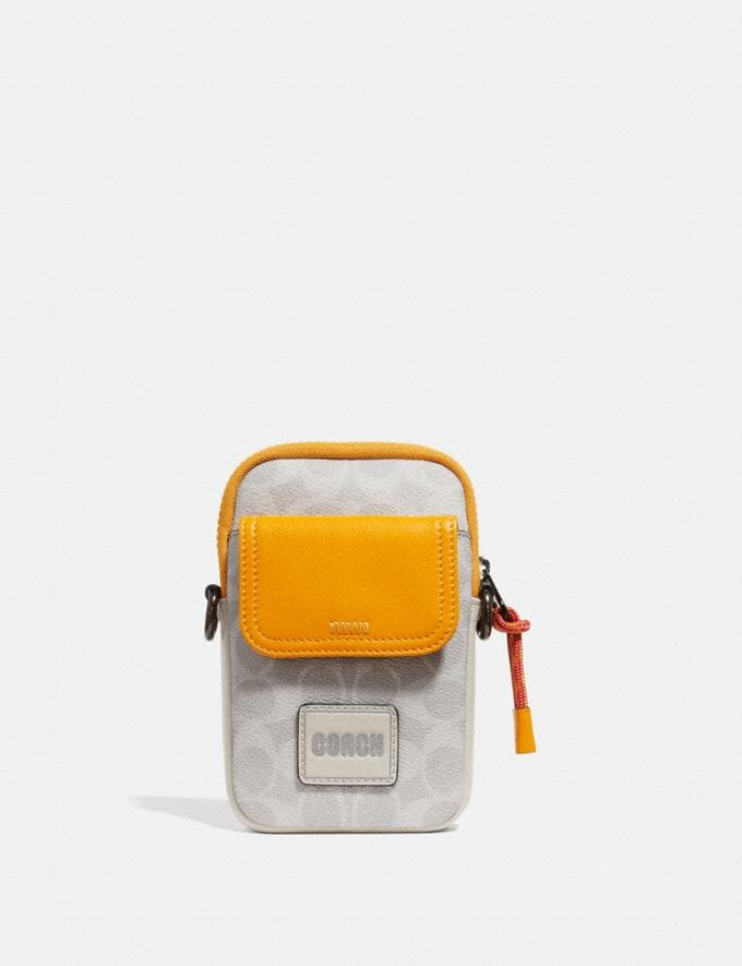 Coach Pacer Convertible Pouch in Colorblock Signature Canvas With Coach Patch Chalk/Pollen SALE Private Event Men's