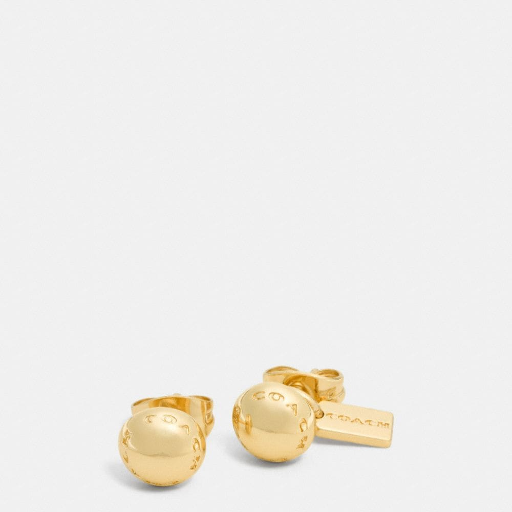 COACH RIVET STUD EARRINGS
