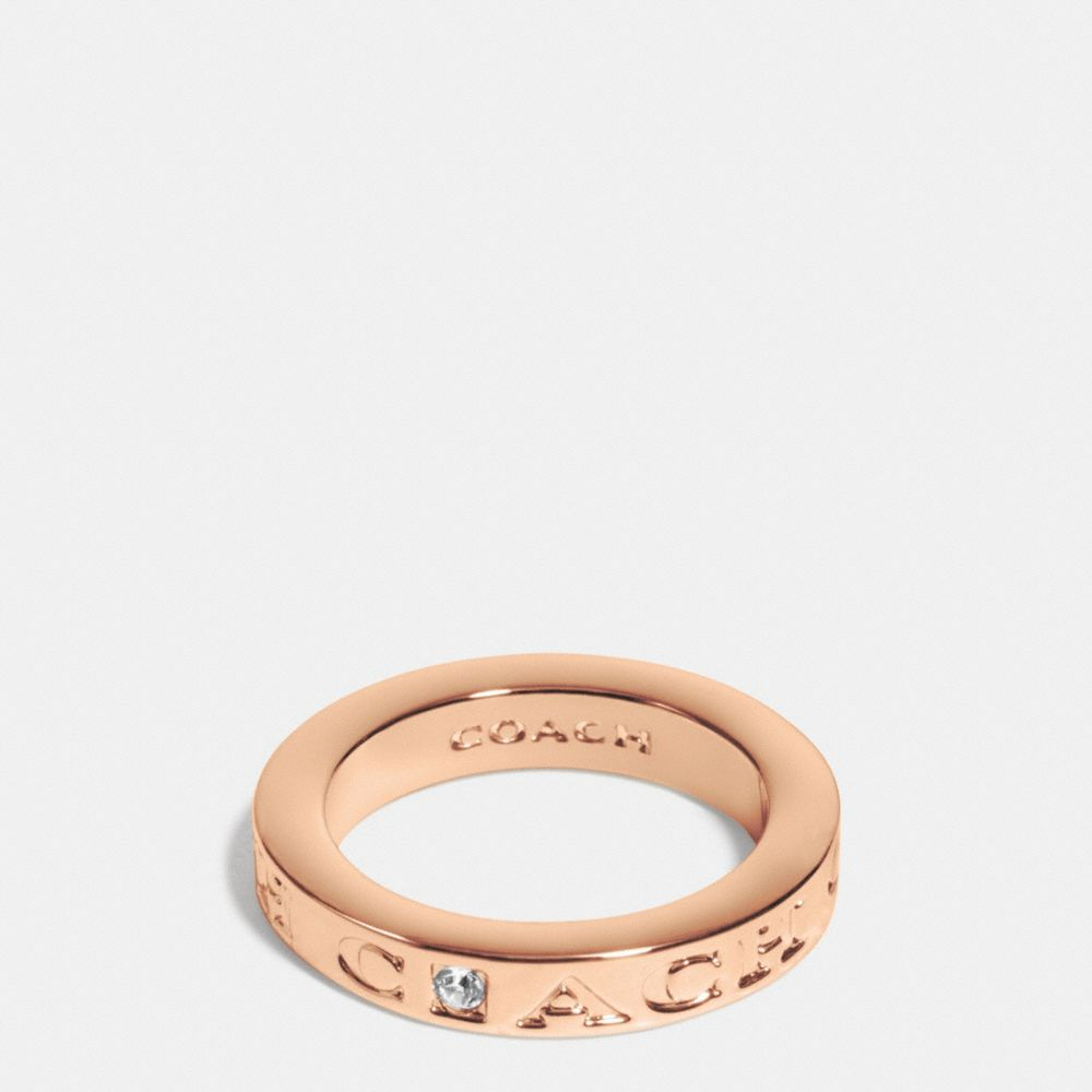 COACH PAVE METAL RING