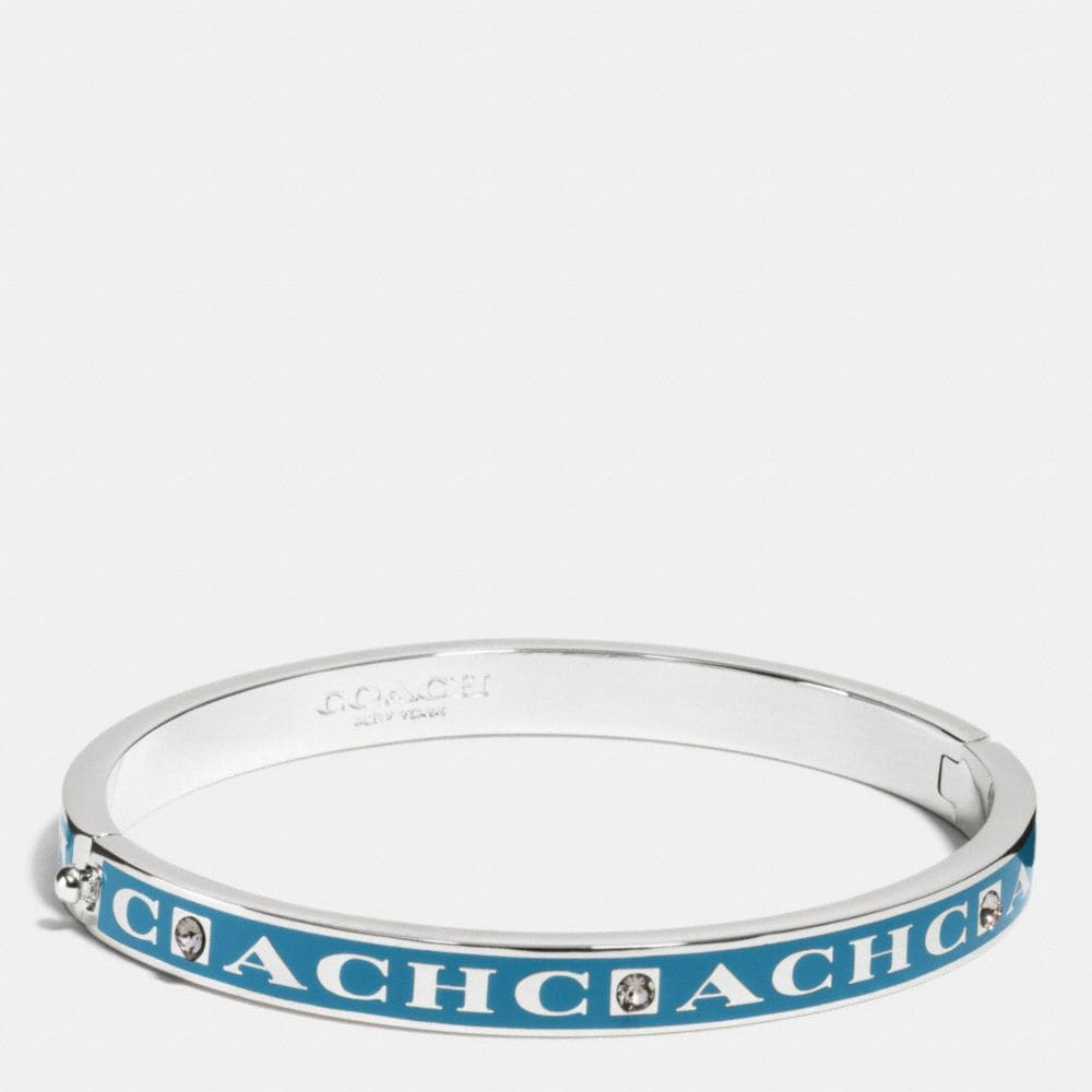 COACH PAVE HINGED ENAMEL BANGLE