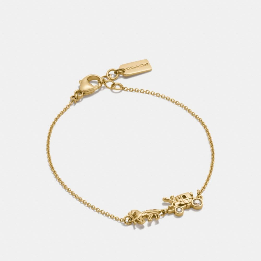 Coach Demi-Fine Horse and Carriage Chain Bracelet