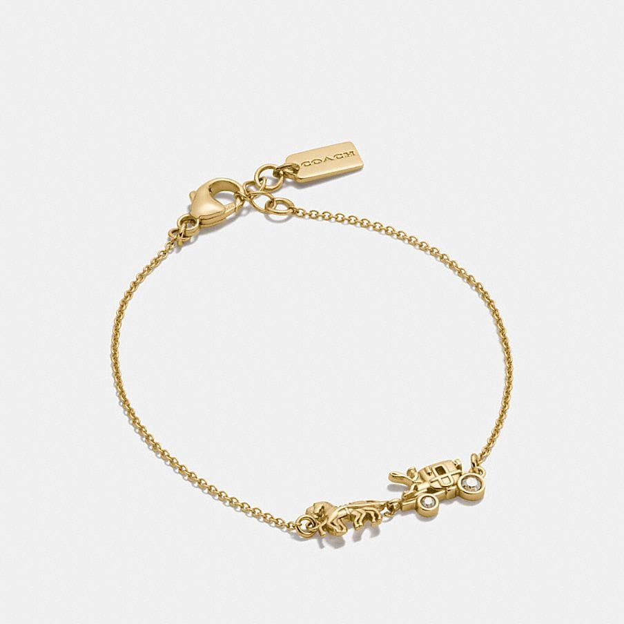 COACH: Demi-Fine Horse and Carriage Chain Bracelet