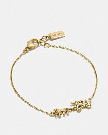 DEMI-FINE HORSE AND CARRIAGE CHAIN BRACELET