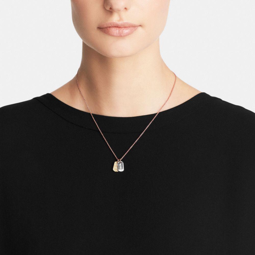 Pave Mixed Tags Necklace - Autres affichages A1