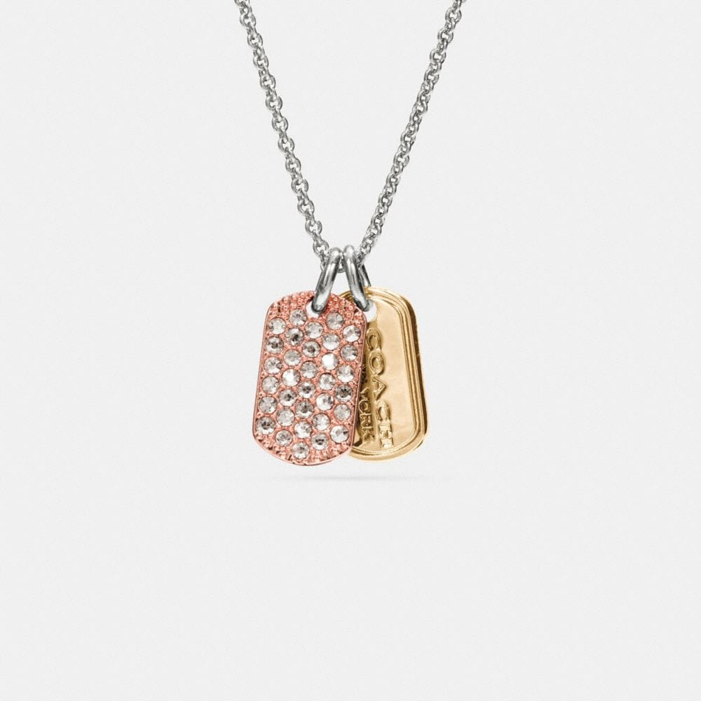 Pave Mixed Tags Necklace