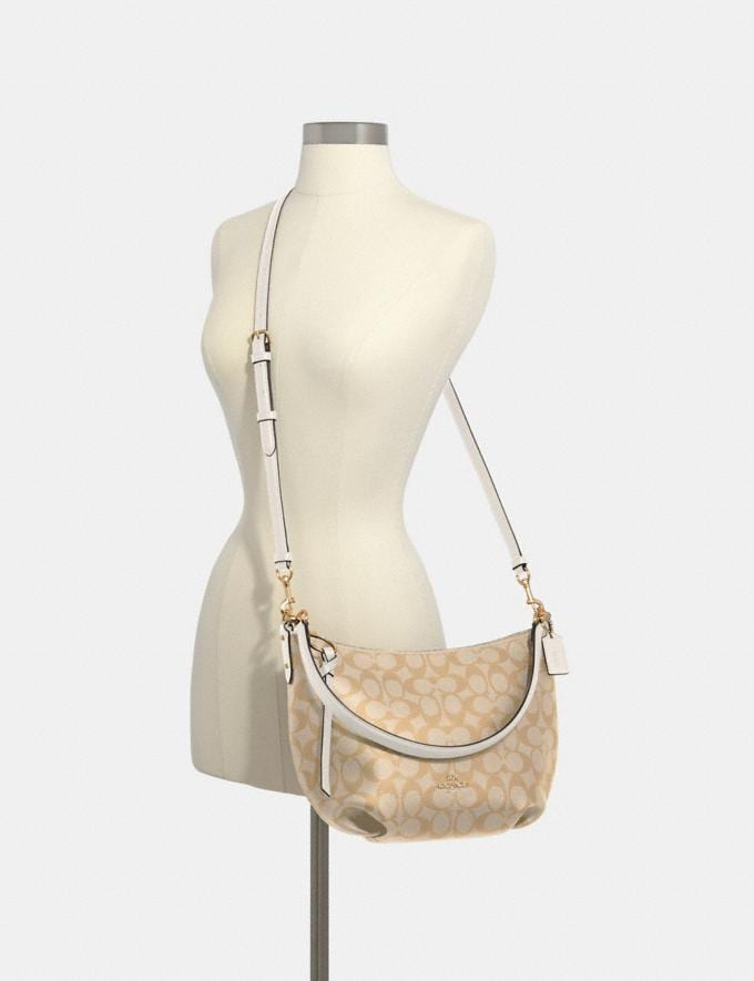 Coach Small Skylar Hobo in Signature Canvas Im/Light Khaki Chalk Clearance Bags Alternate View 2