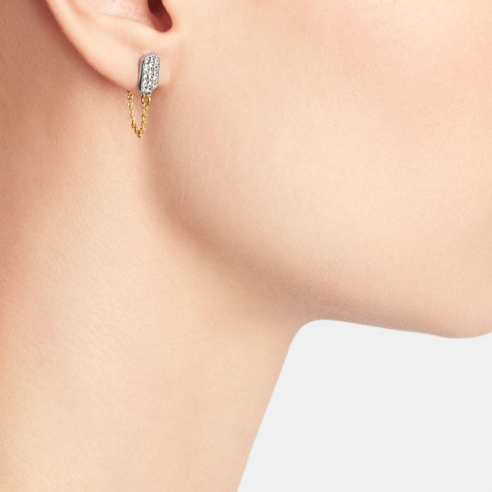 Pave Tag Earring  - Alternate View A1