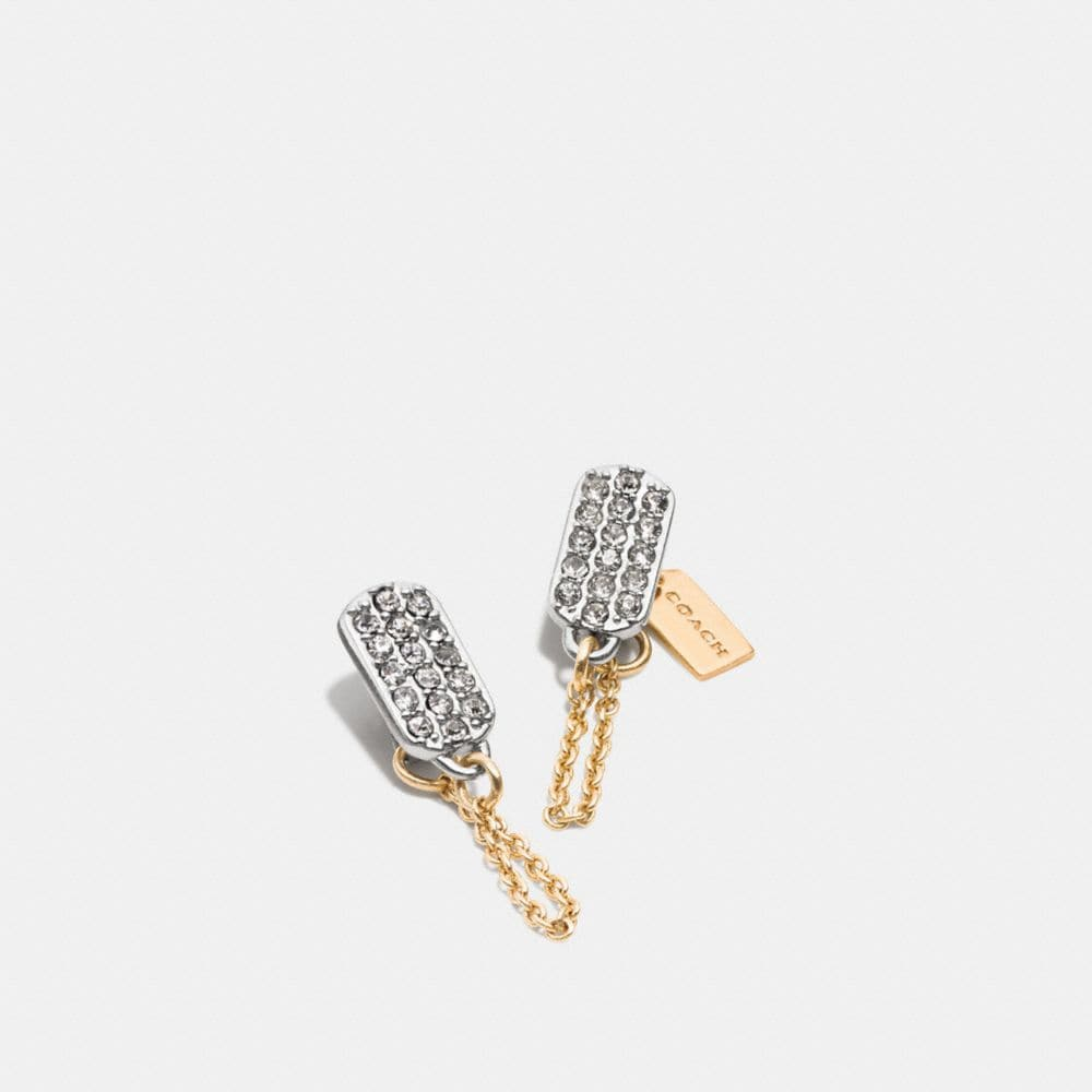 Pave Tag Earring
