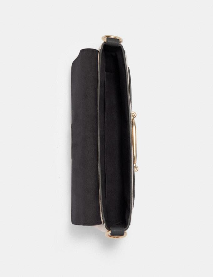 Coach Small Jade Shoulder Bag With Signature Canvas Detail Im/Khaki/Black  Alternate View 1