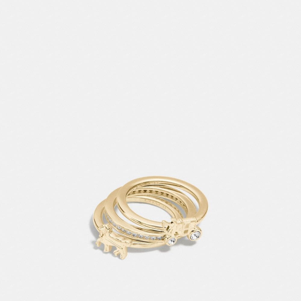DEMI-FINE HORSE AND CARRIAGE RING SET