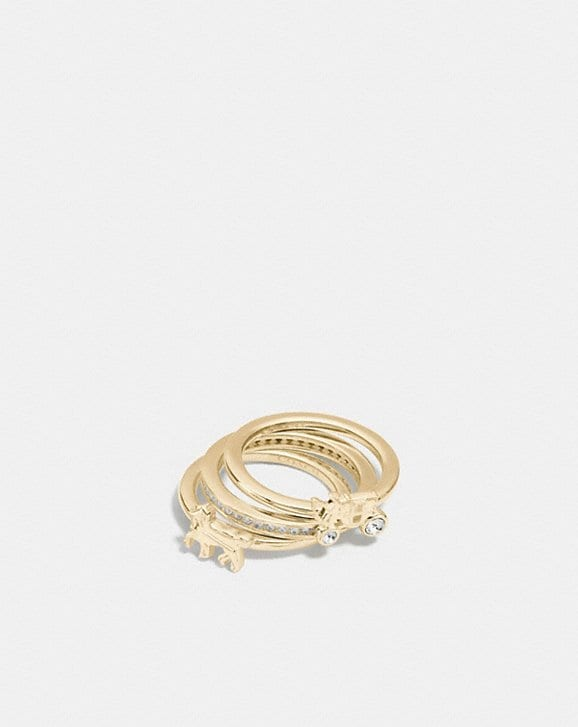Coach DEMI-FINE HORSE AND CARRIAGE RING SET