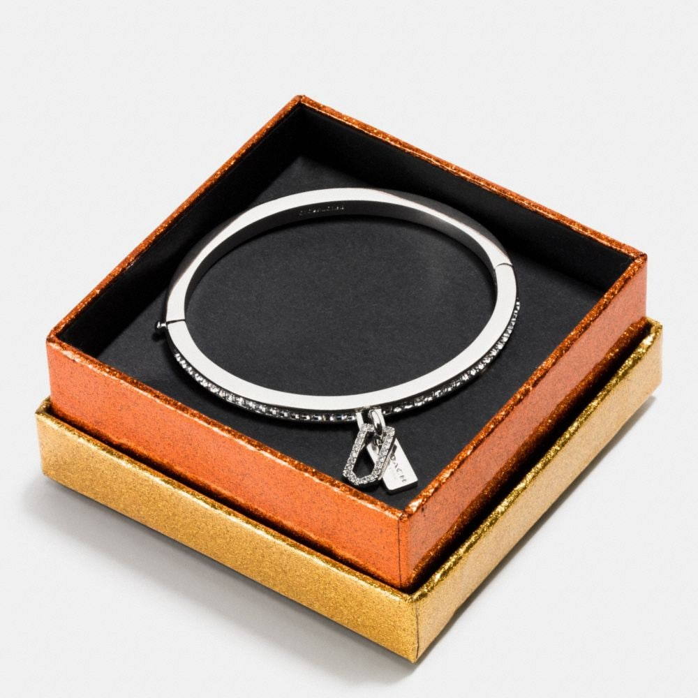 Gift Boxed Pave Multi Hangtag Hinged Bangle - Alternate View A1