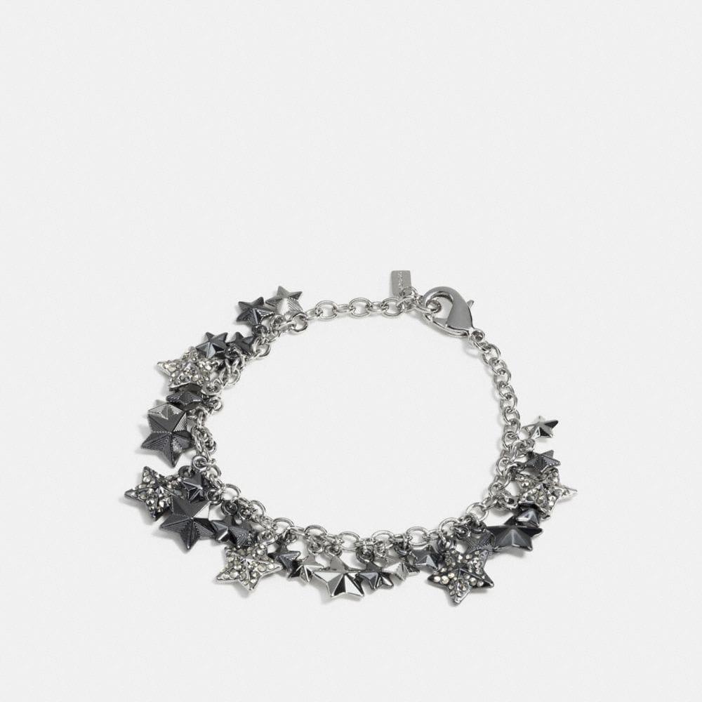 Pave Metal Stars Charm Bracelet