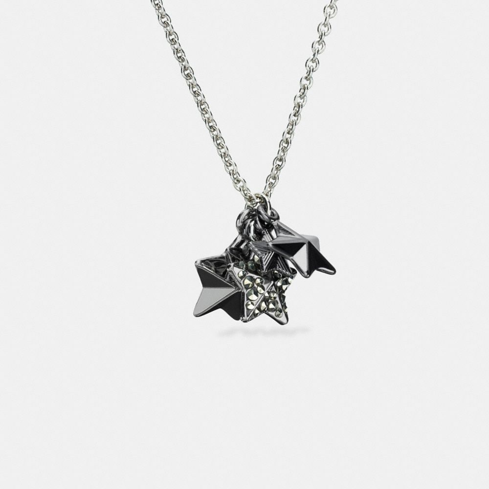 Pave Metal Stars Necklace