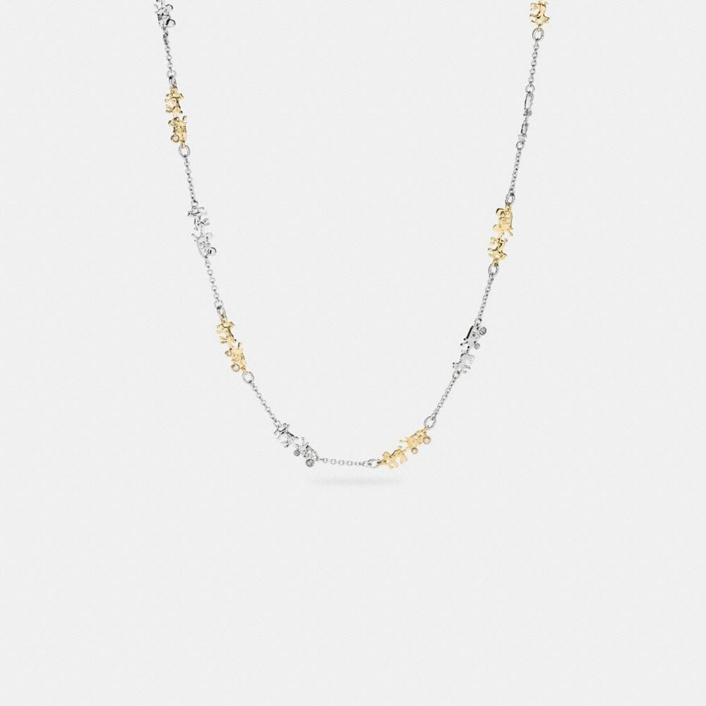 Long Coach Horse and Carriage Necklace