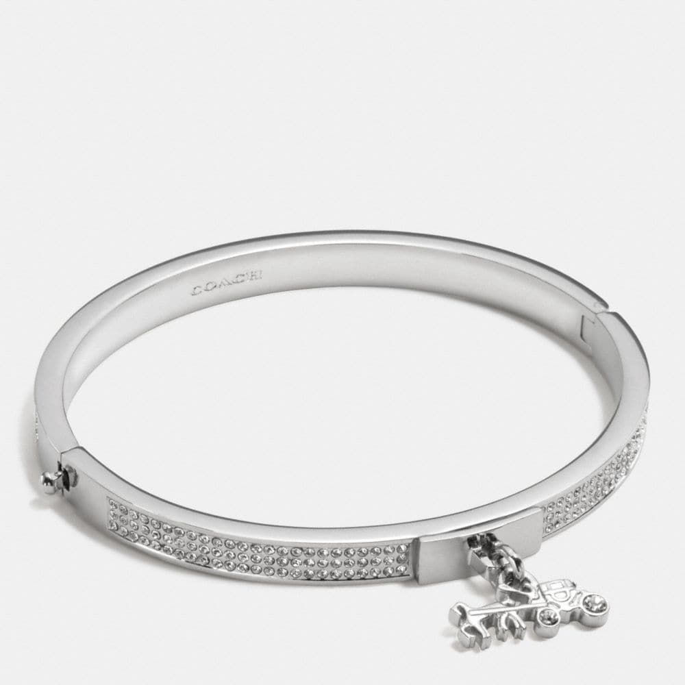 PAVE HORSE AND CARRIAGE HINGED BANGLE