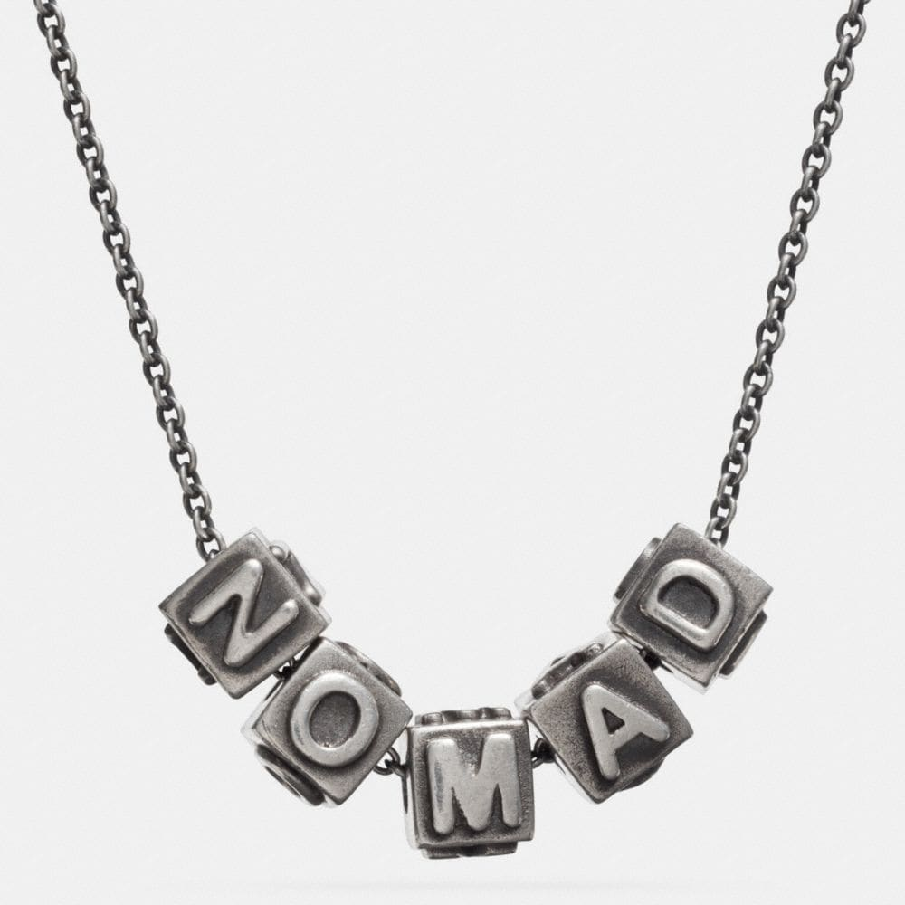 NOMAD BLOCK LETTERS NECKLACE