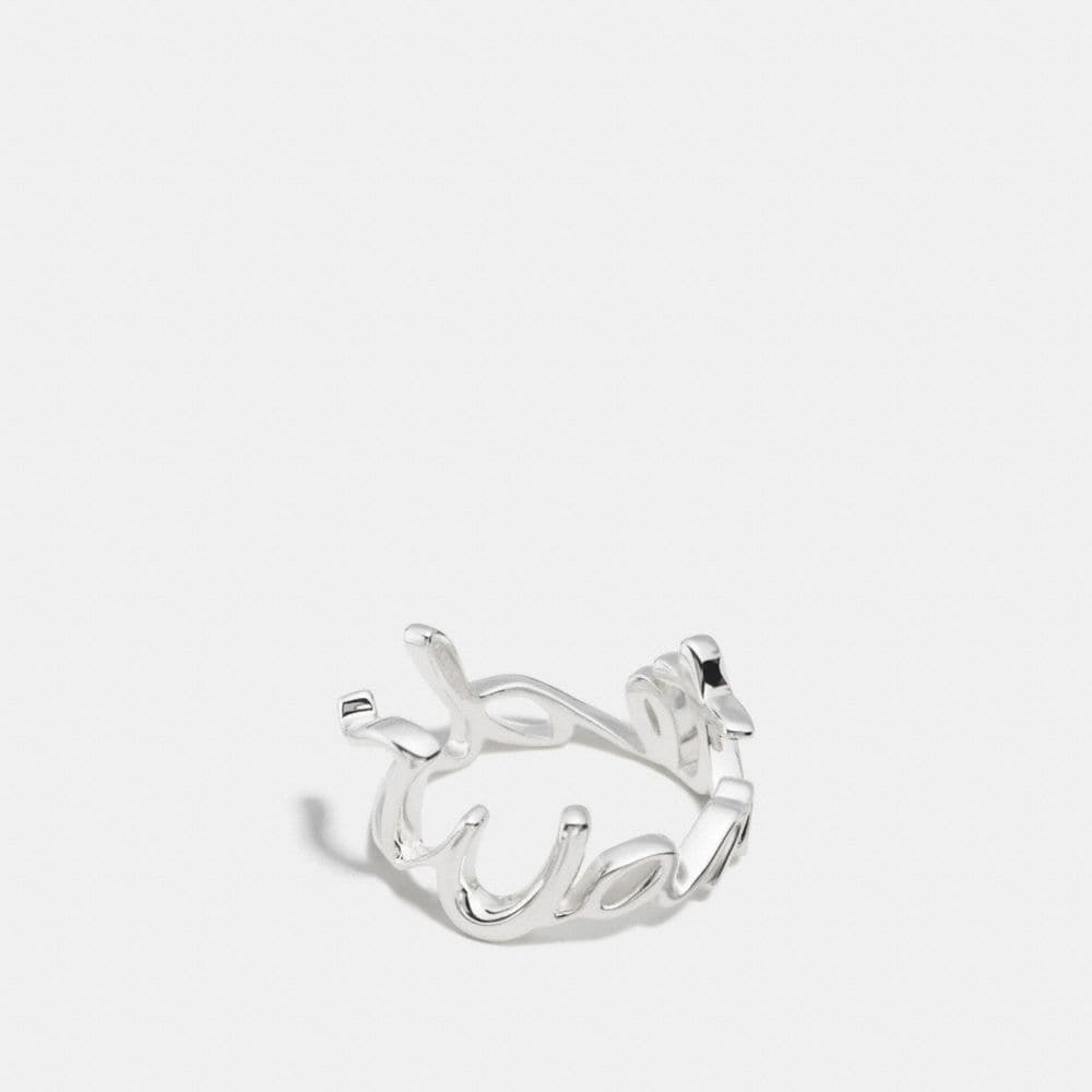 Wanted Sterling Script Ring
