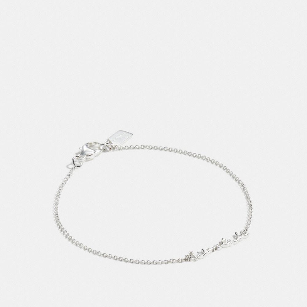 Wanted Sterling Script Bracelet