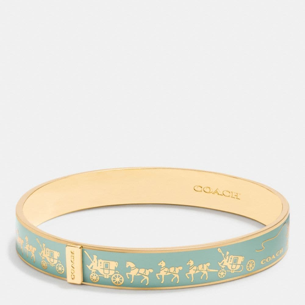 Horse and Carriage Enamel Bangle