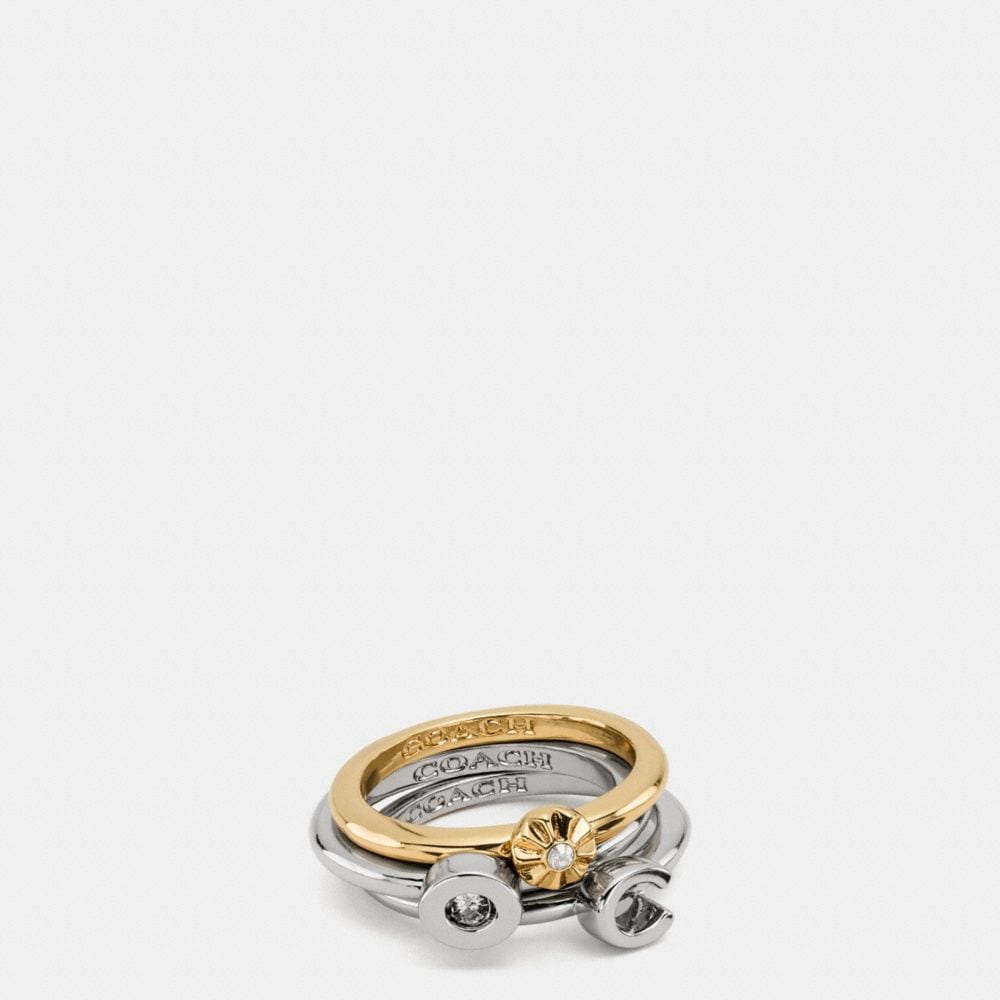 Coach Rivet Ring Set