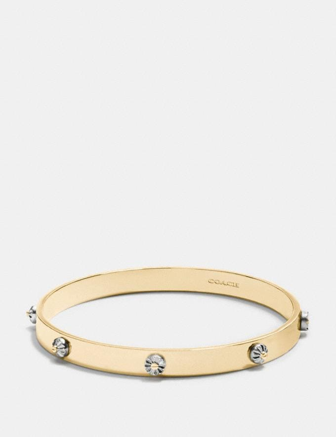 Coach Daisy Rivet Bangle Silver/Gold