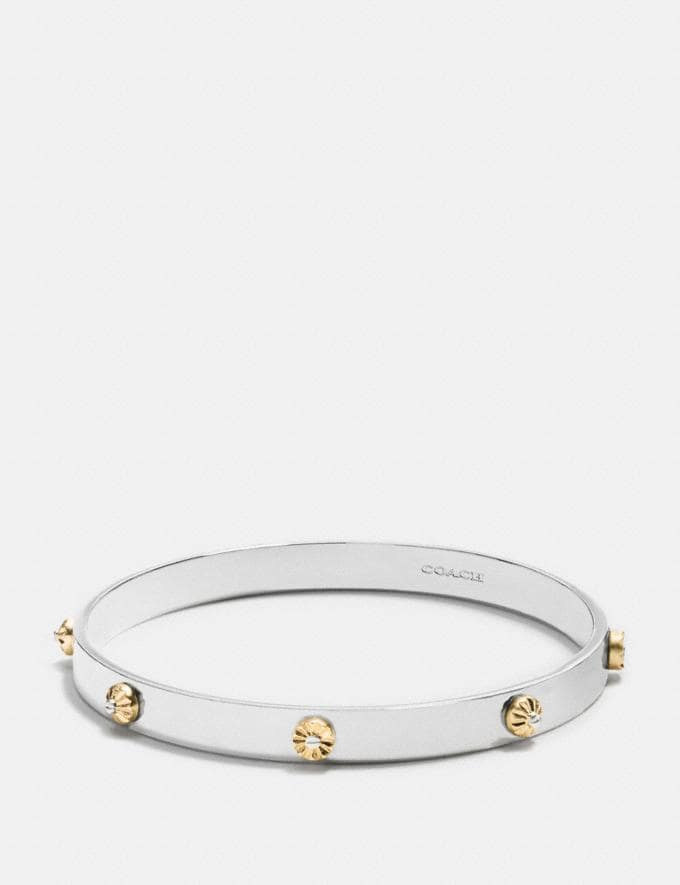 Coach Daisy Rivet Bangle Gold/Silver 30% off Select Full-Price Styles