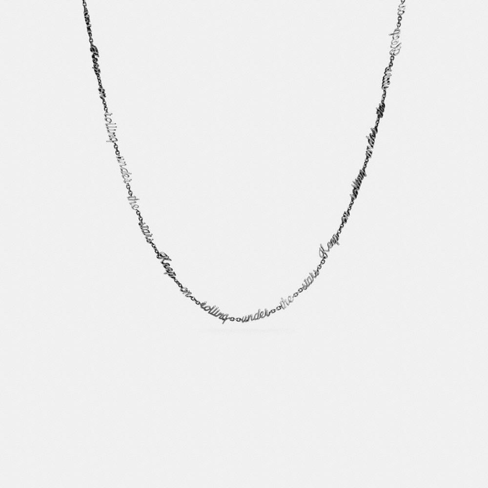 Dreamer Script Necklace