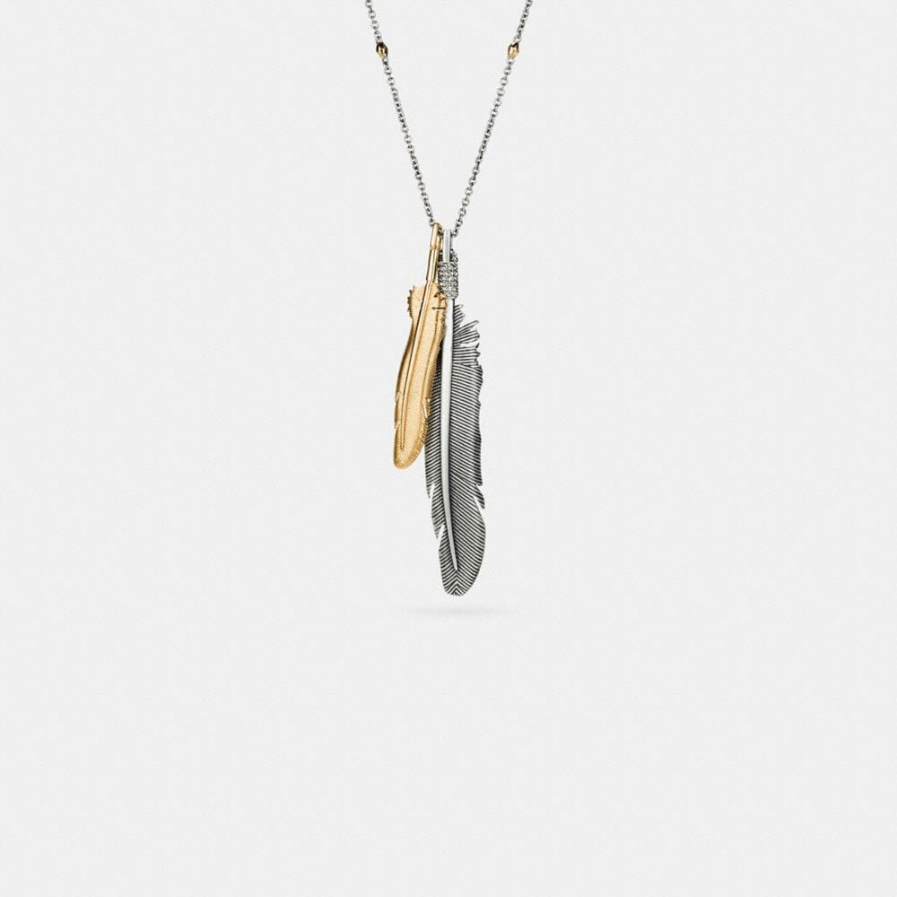 Day Dreamer Feather Pave Necklace