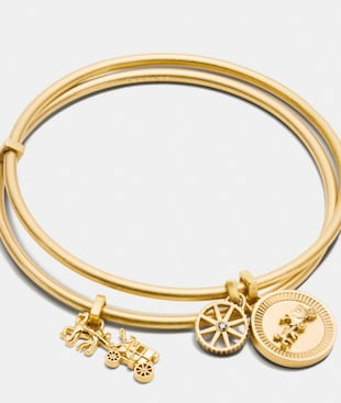 HORSE AND CARRIAGE COIN BANGLE SET