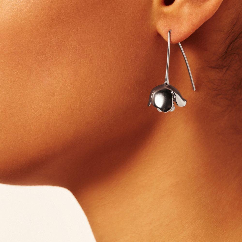 Tea Rose Pearl Threader Earrings - Alternate View A1