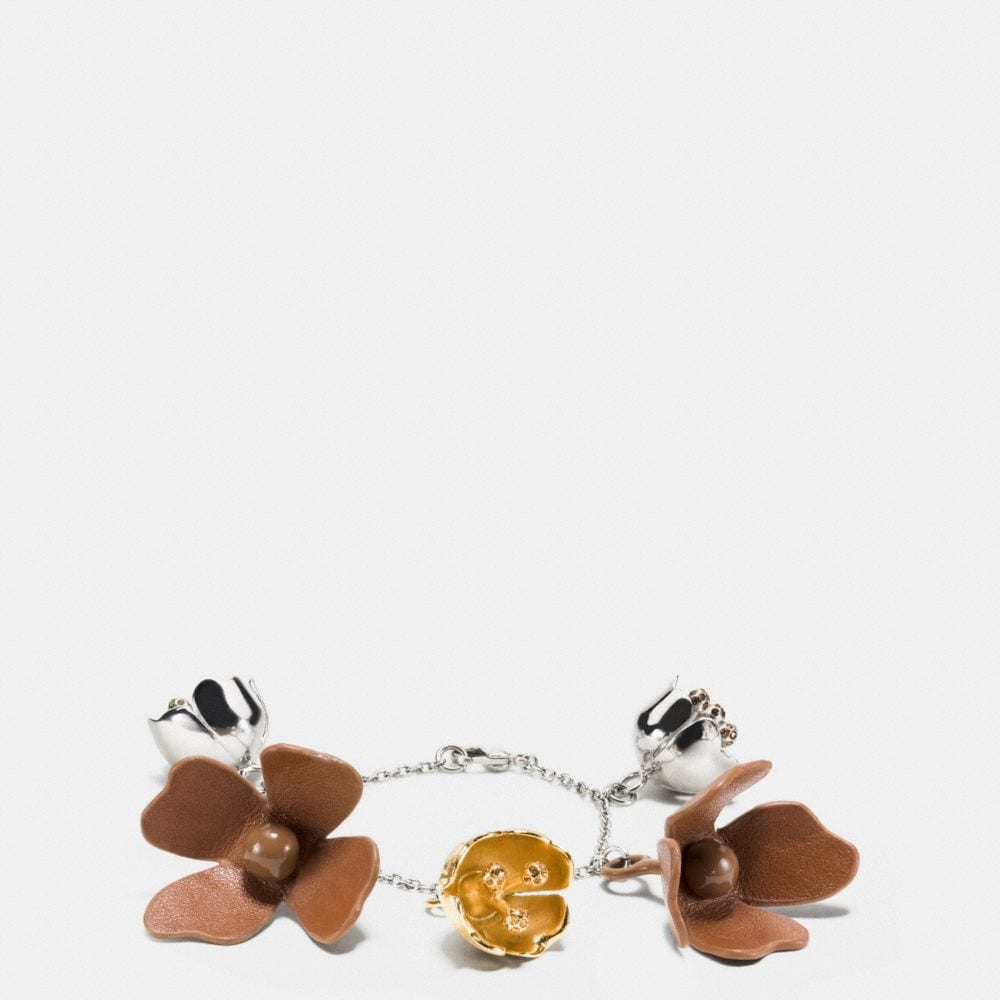 SADDLE LEATHER TEA ROSE BRACELET