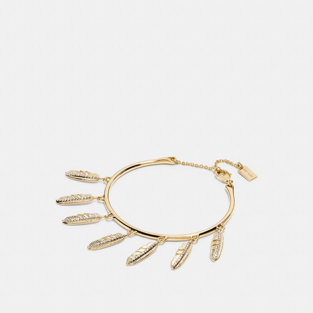 Pave Multi Feather Bracelet