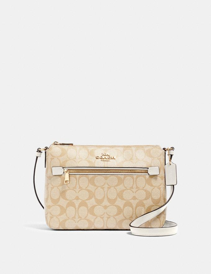 Coach Gallery File Bag in Signature Canvas Im/Light Khaki Chalk Under $99 Under $99