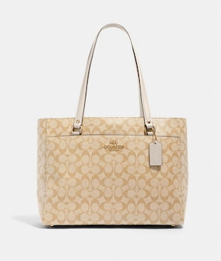 ADDISON TOTE IN SIGNATURE CANVAS