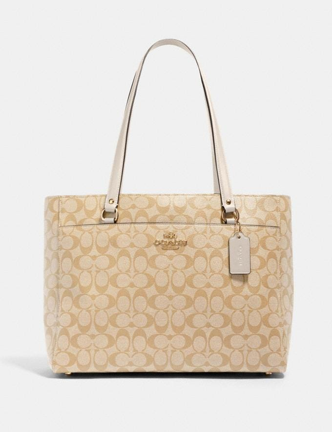 Coach Addison Tote in Signature Canvas Im/Light Khaki Chalk Handbags Handbags