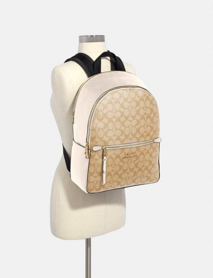 Coach Addison Backpack in Signature Canvas Im/Light Khaki Chalk Clearance Alternate View 2