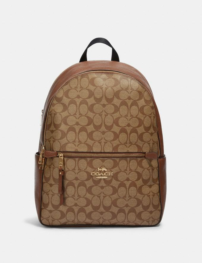 Coach Addison Backpack in Signature Canvas Im/Khaki Saddle 2