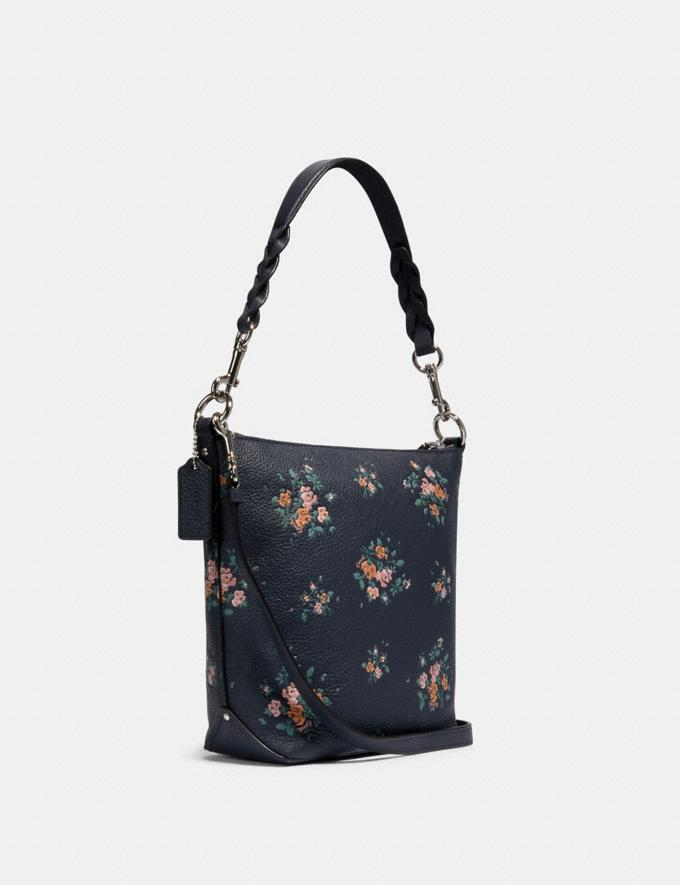 Coach Mini Abby Duffle With Rose Bouquet Print Sv/Midnight Multi  Alternate View 1