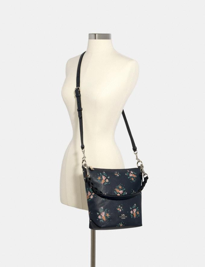 Coach Mini Abby Duffle With Rose Bouquet Print Sv/Midnight Multi  Alternate View 3