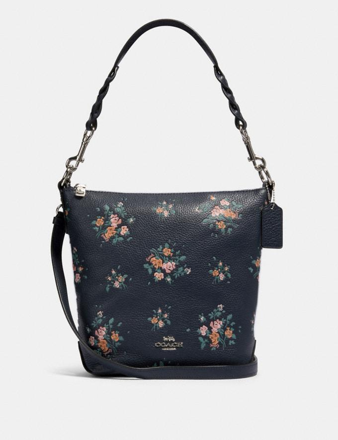 Coach Mini Abby Duffle With Rose Bouquet Print Sv/Midnight Multi