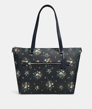 GALLERY TOTE WITH ROSE BOUQUET PRINT