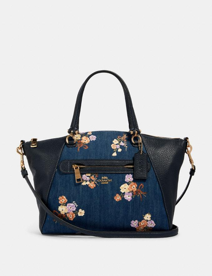 Coach Prairie Satchel With Painted Floral Box Print Im/Denim Multi