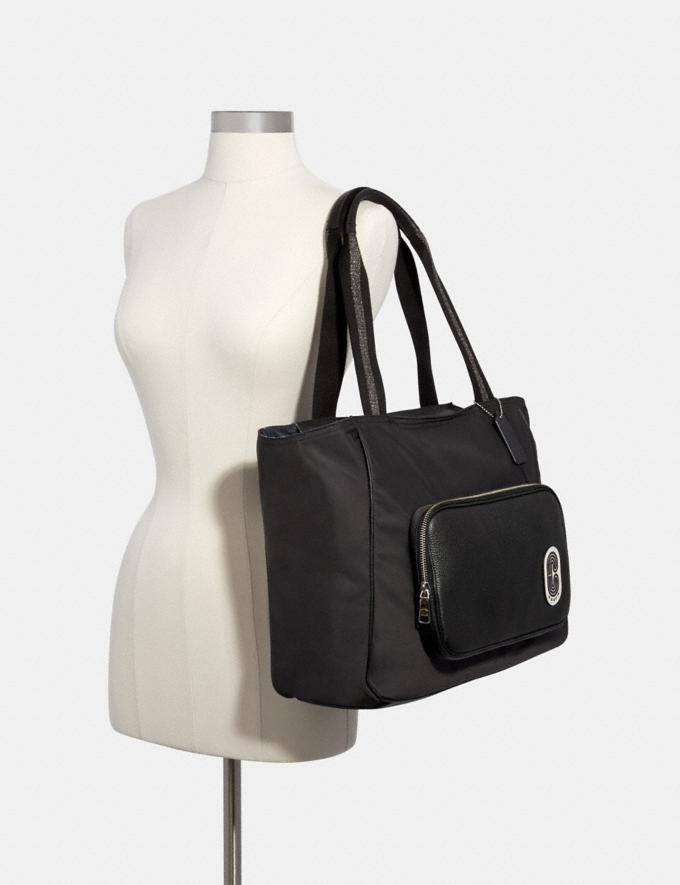 Coach Court Tote Sv/Black Members Only Members Only Alternate View 2