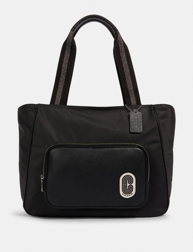 Coach Court Tote Sv/Black Members Only Members Only