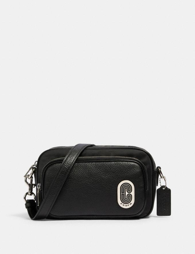 Coach Court Crossbody Sv/Black Women Bags