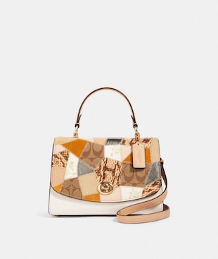 TILLY TOP HANDLE SATCHEL WITH SIGNATURE CANVAS PATCHWORK