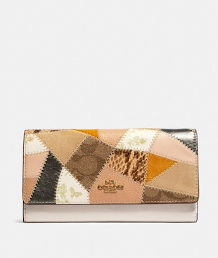 TRIFOLD WALLET WITH PATCHWORK