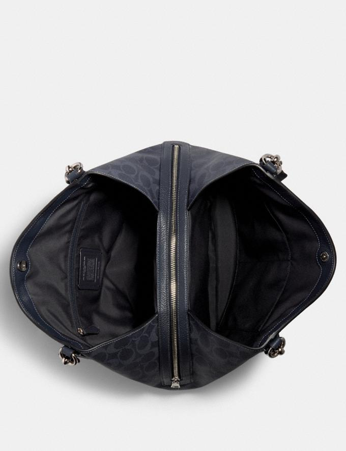 Coach Hallie Shoulder Bag in Signature Canvas Sv/Denim Midnight  Alternate View 2