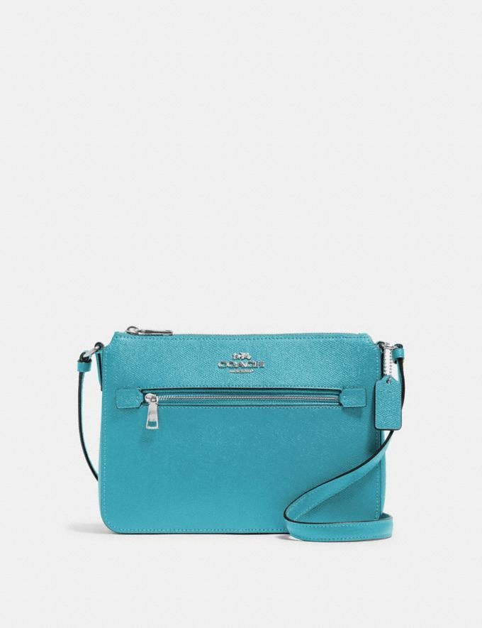 Coach Gallery File Bag Sv/Aqua